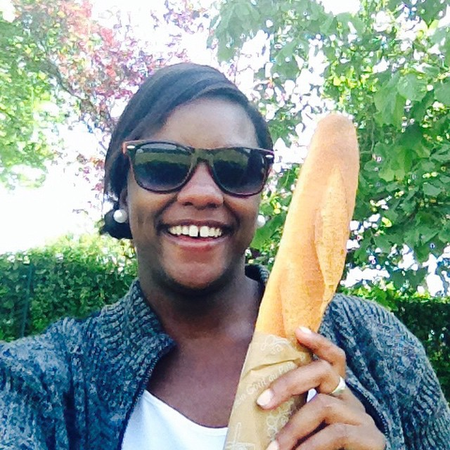In France with my baguette
