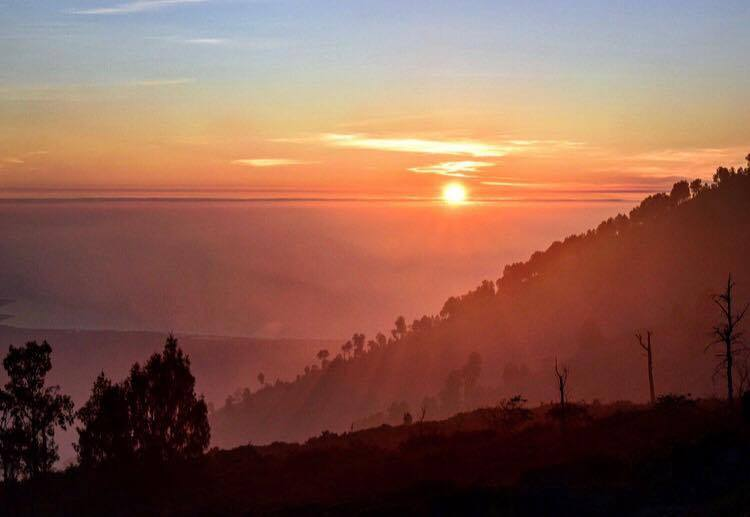 Sunrise over Kawah Ijen