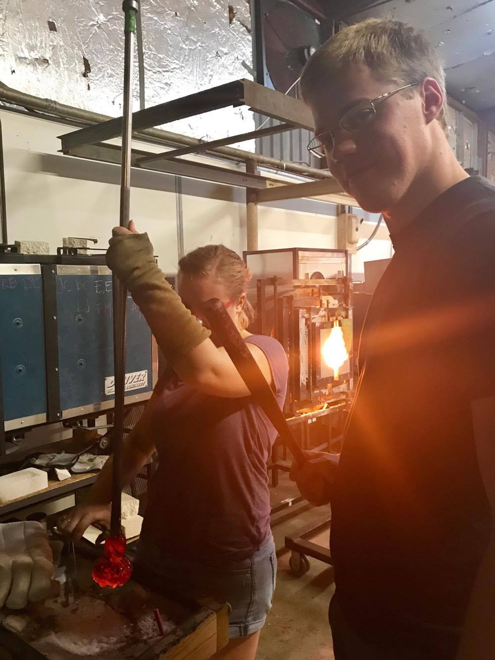Getting the Pumpkin Off the Pipe - Decatur Glassblowing