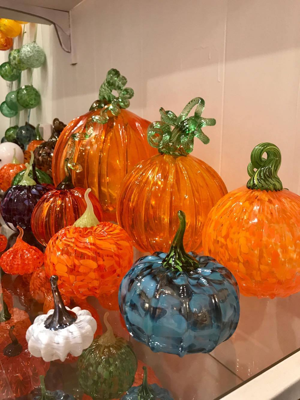 Glass Pumpkins - Decatur Glassblowing