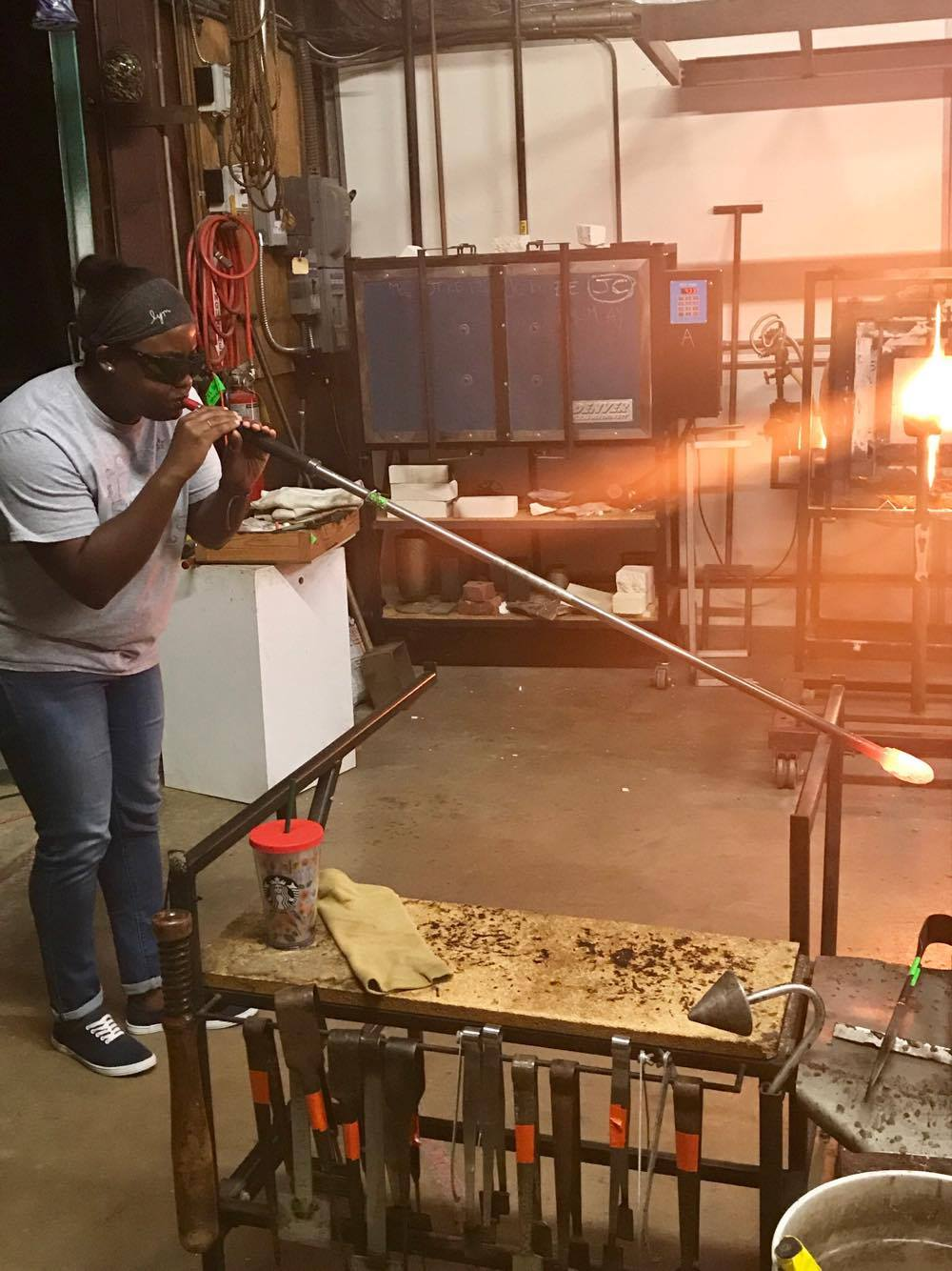 Blowing Glass - Decatur Glassblowing