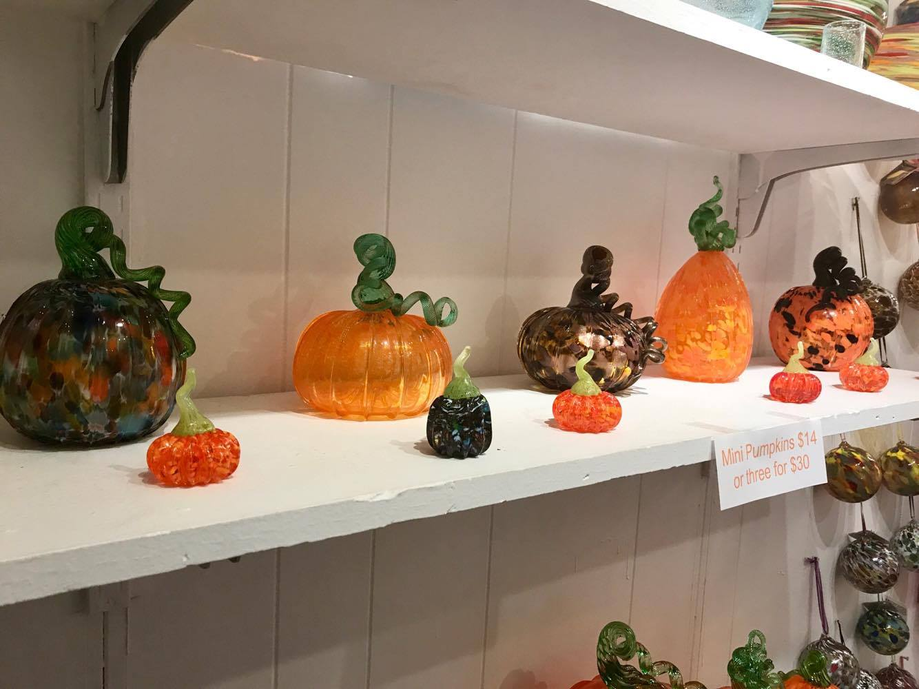 More Glass Pumpkins - Decatur Glassblowing