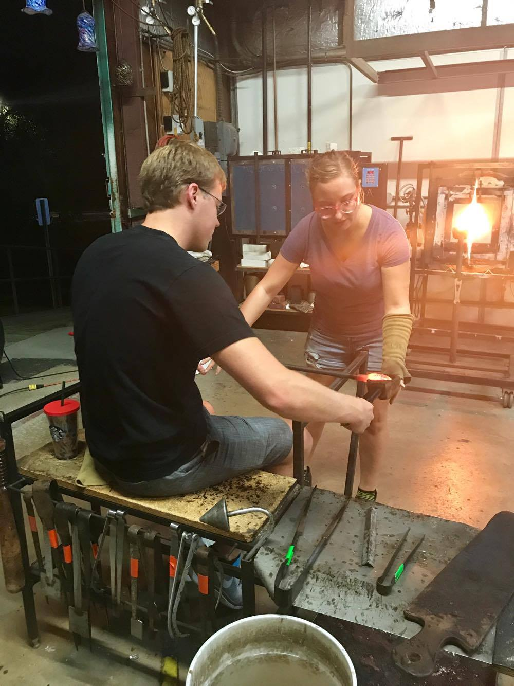 Smoothing Out the Glass - Decatur Glassblowing
