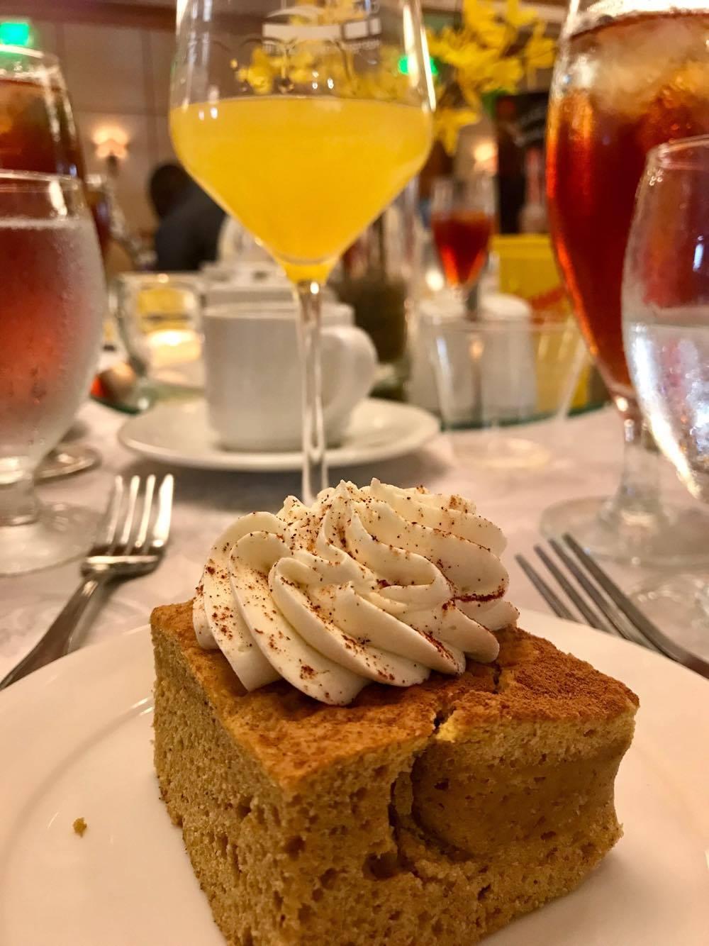 Spiritual Brunch - Delicious Pumpkin Dessert - St Simons Island Food Spirits Festival