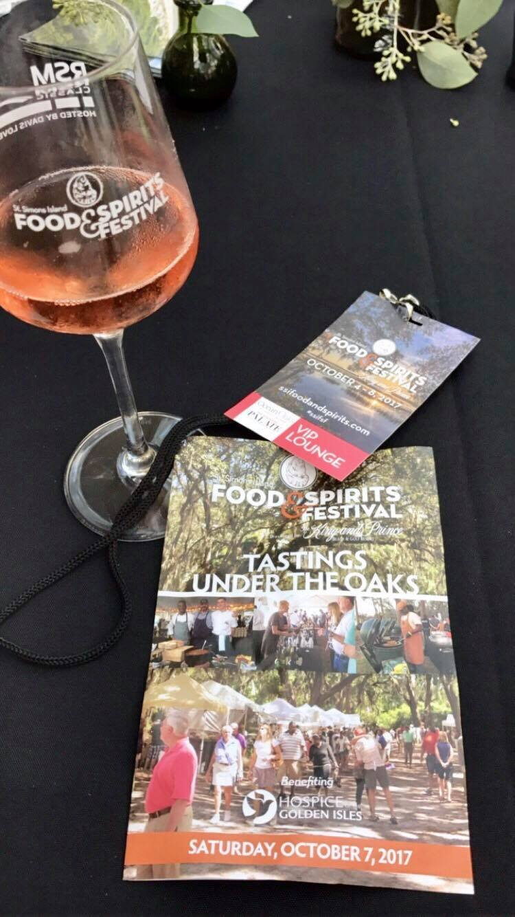 Tasting Under the Oaks - VIP section - St Simons Island Food Spirits Festival