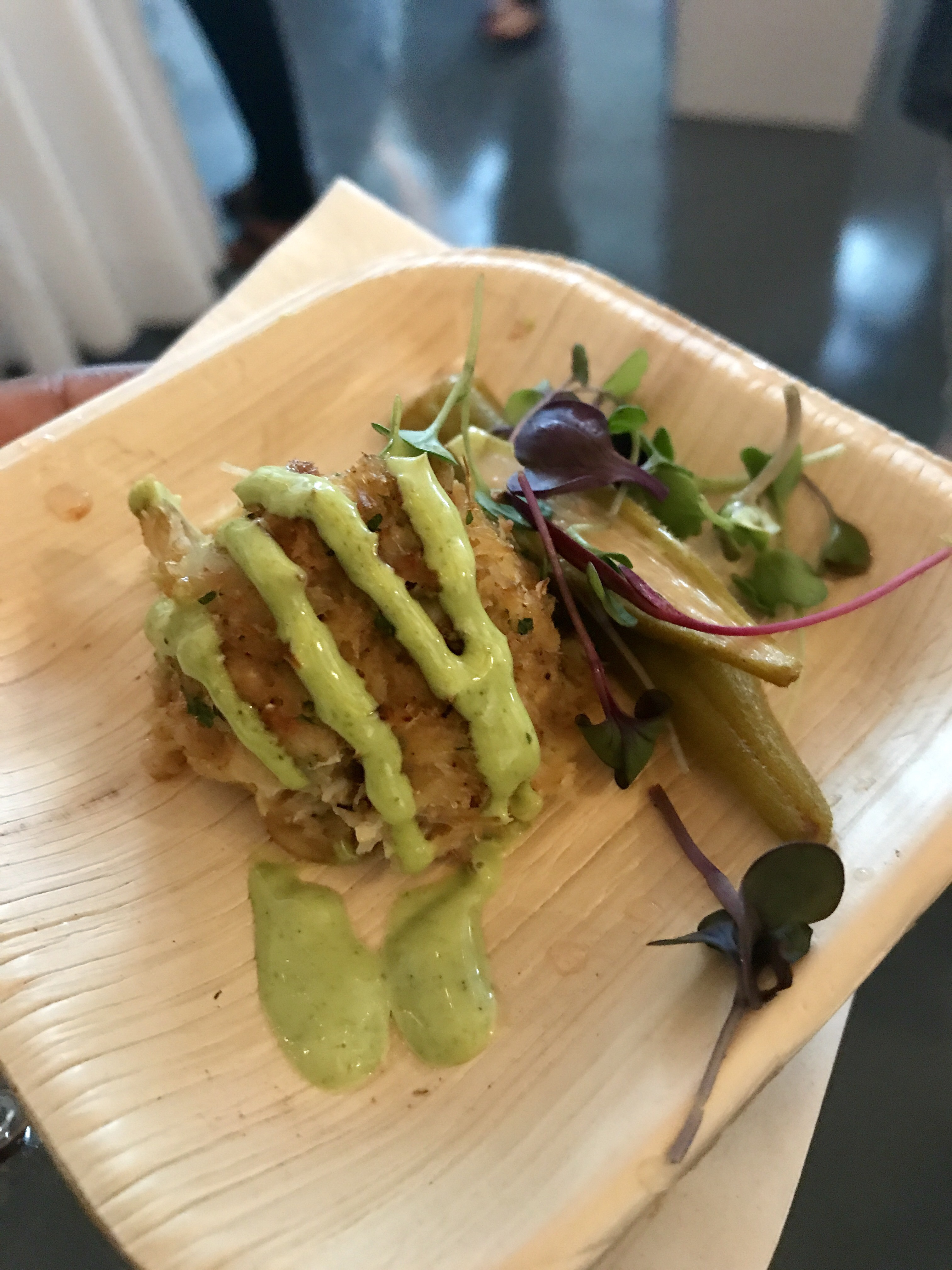 Salmon Cake + Pickled Okra - St Simons Island Food Spirits Festival