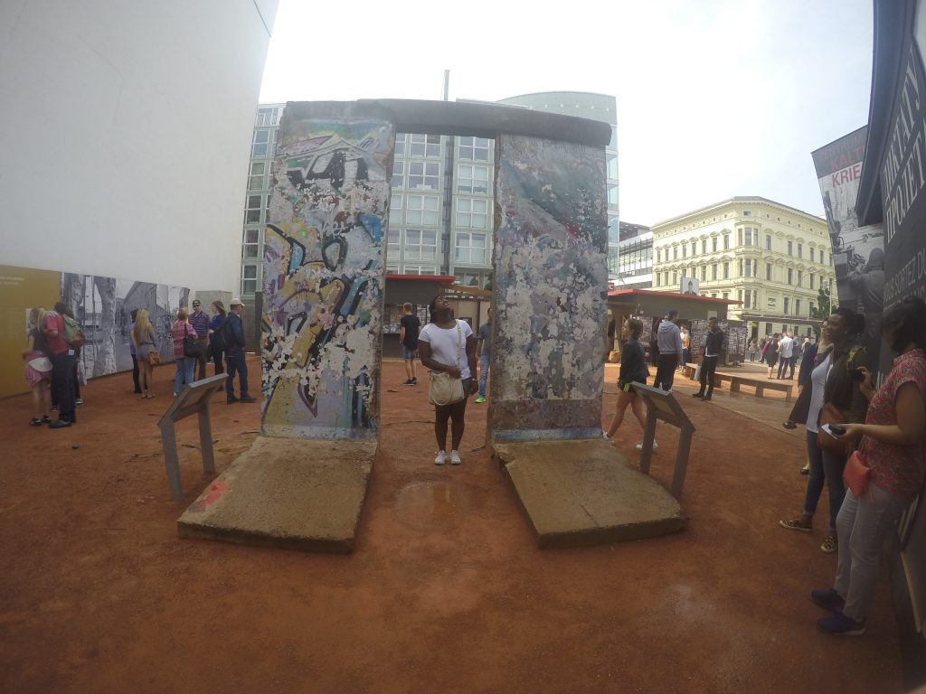 Seeing first hand how tall the Berlin Wall was in Berlin, Germany - Study Abroad