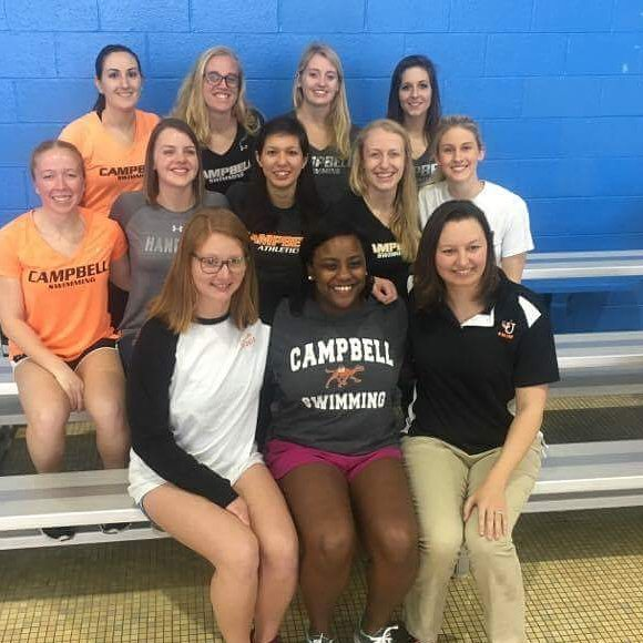 CU Swim Alumi Celebrating the Seniors