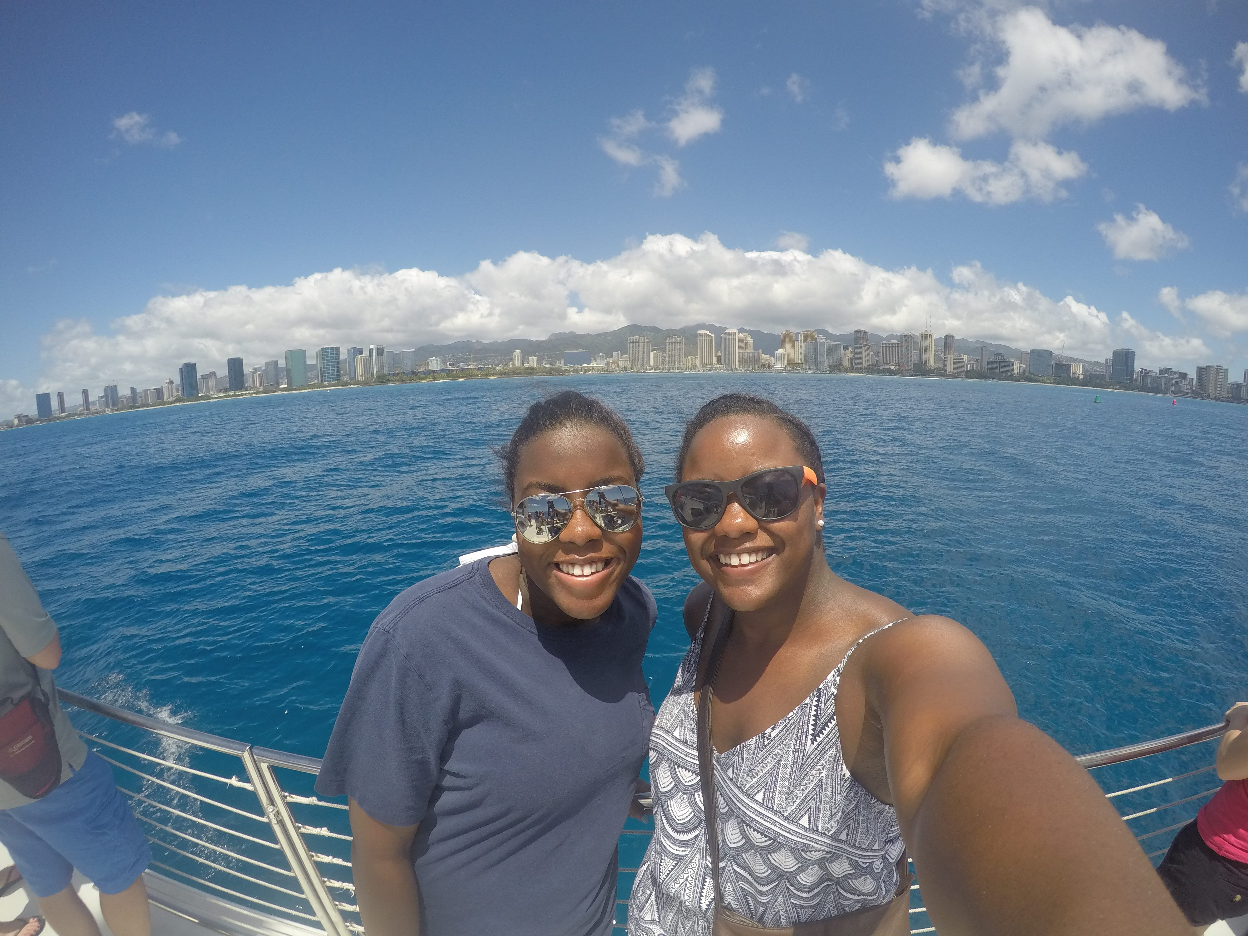 Brit and I on a Catamaran Tour