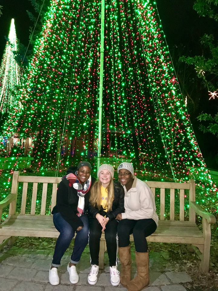 Larissa, Taylor, & Brit at the Garden Lights