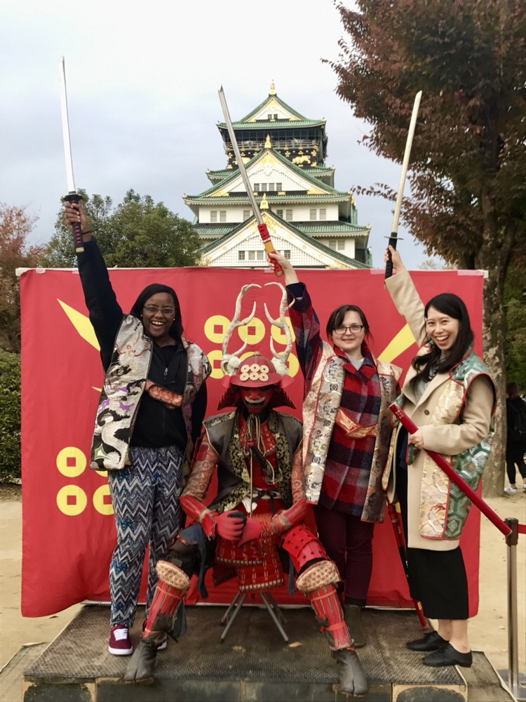 Samurai Warriors in Front of the Osaka Castle - Osaka and Kyoto