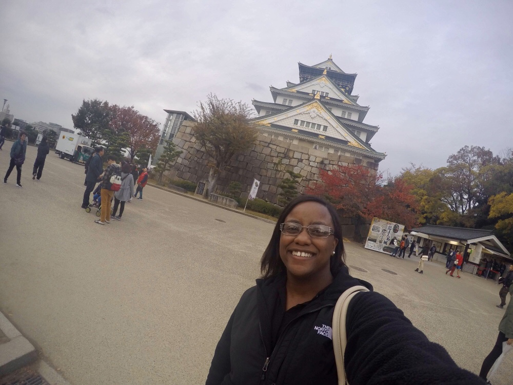 Selfie with the Osaka Castle