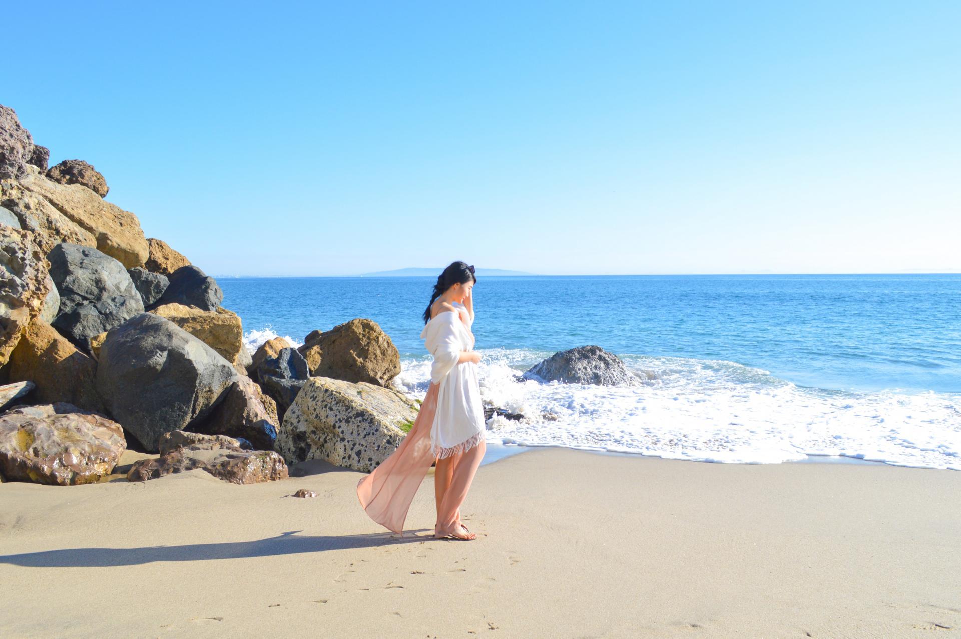 Topanga Beach in Malibu - Jasmine