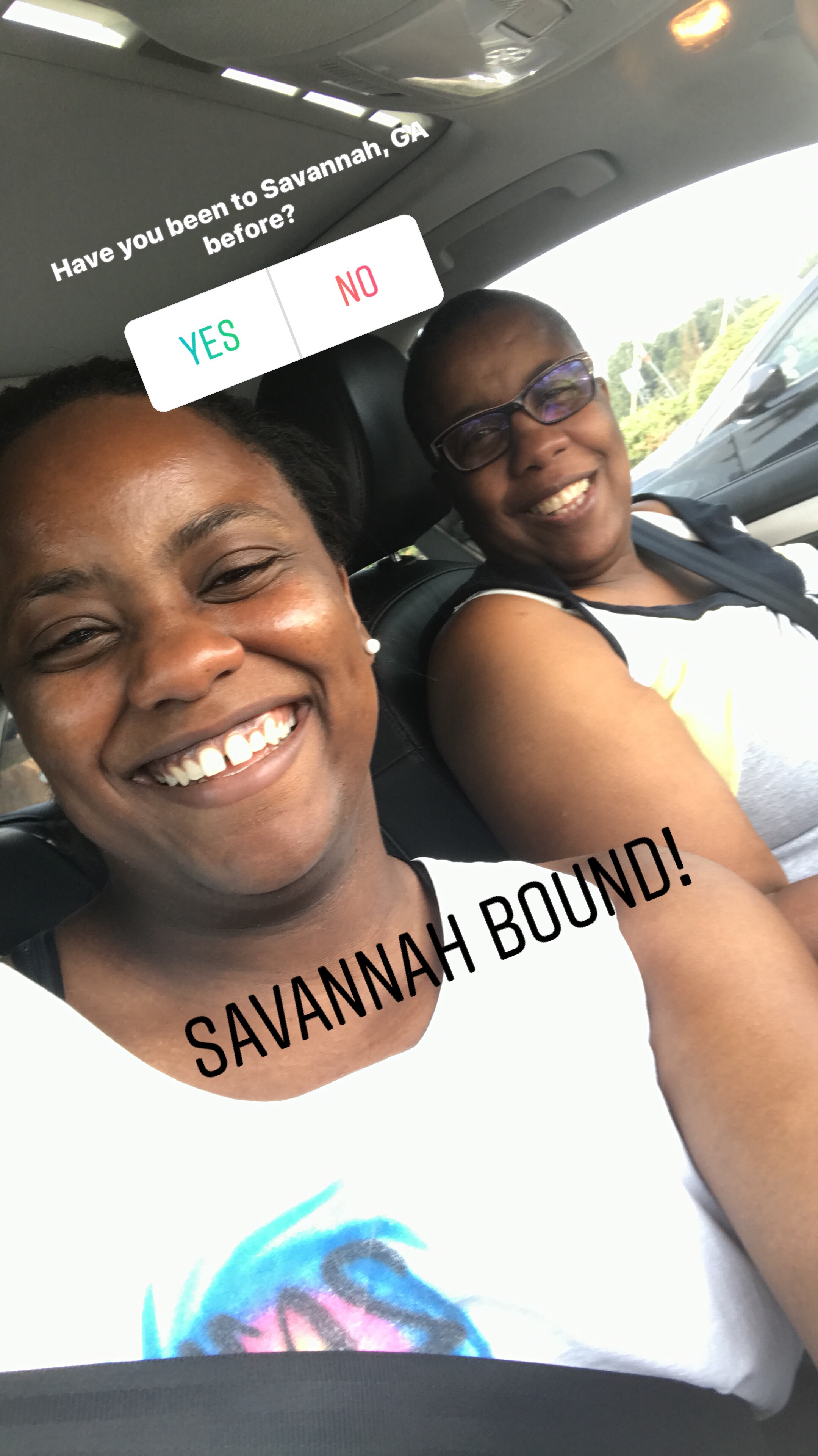 Mom and I Savannah bound after picking up her new glasses! - Savannah