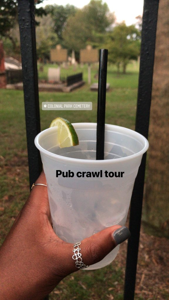 Bottoms Up on our Pub Crawl Ghost Tour - Savannah