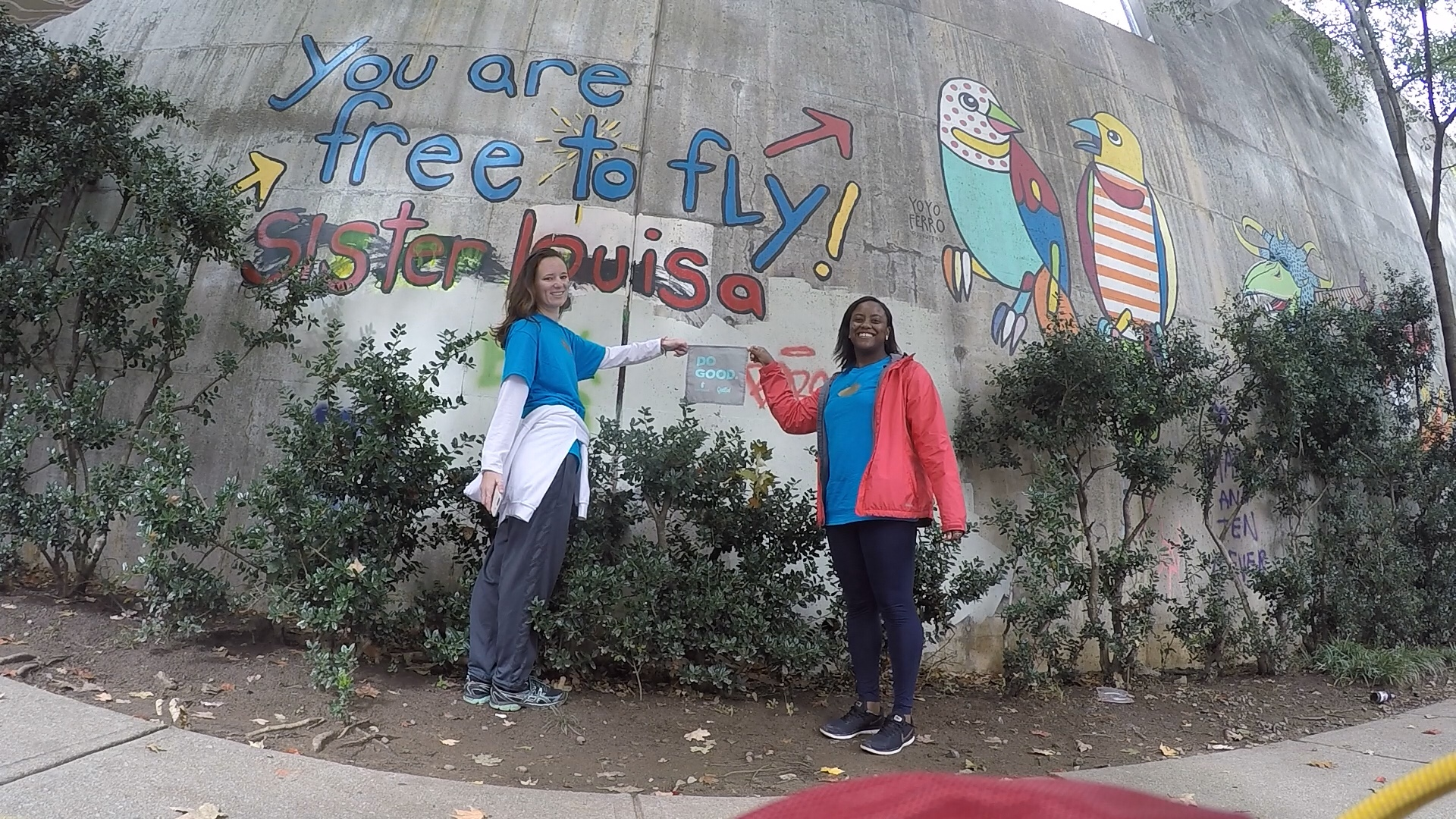 Appreciating the beautiful street art that populates downtown Atlanta! - Questival