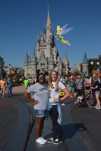 Tink Sprinkling a Little Magic on Our Day - Disney World