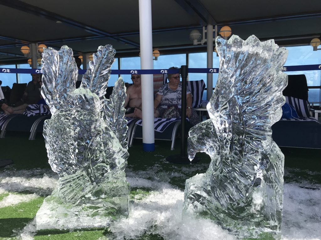 Ice Carving on the Lido Deck