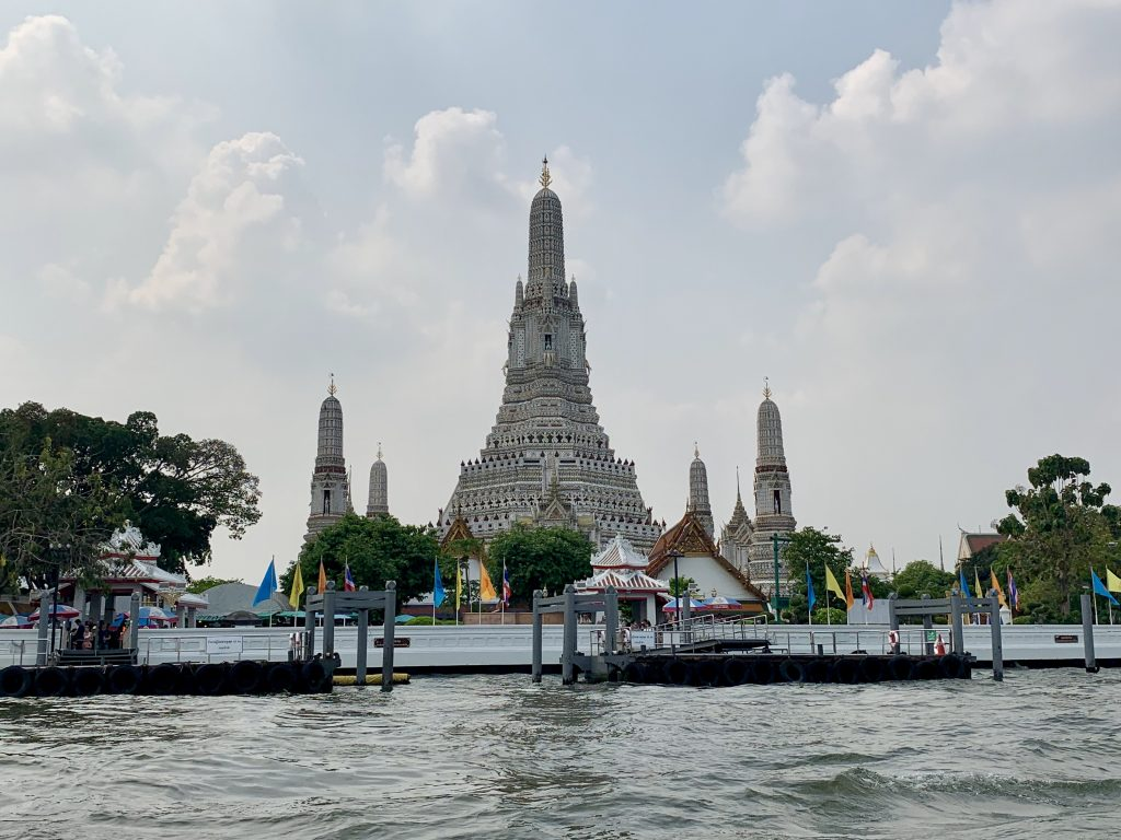 A view of Wat Arun from the water - Bangkok