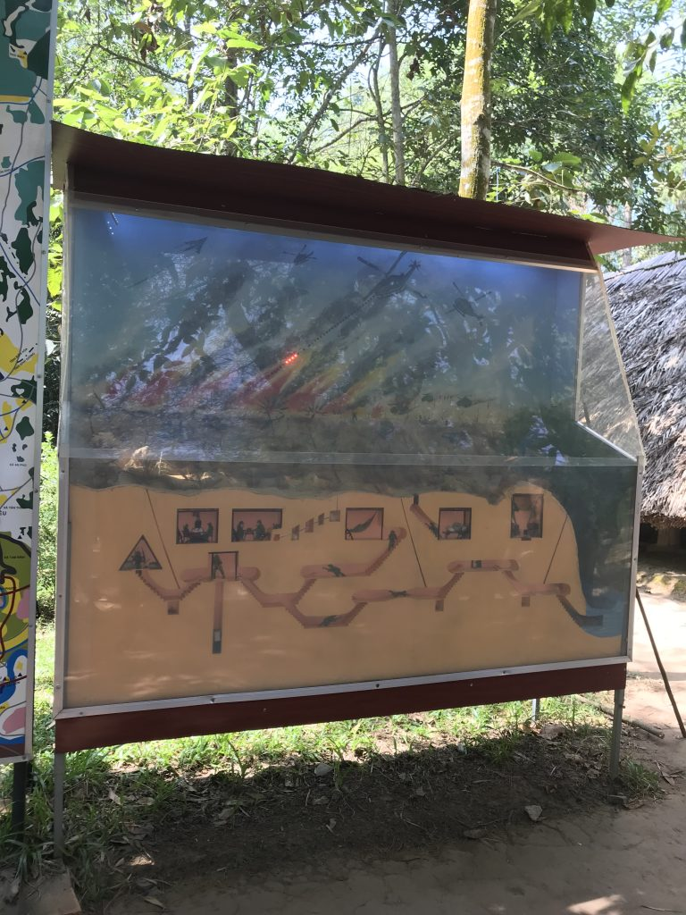 Diagram of the Cu Chi Tunnels