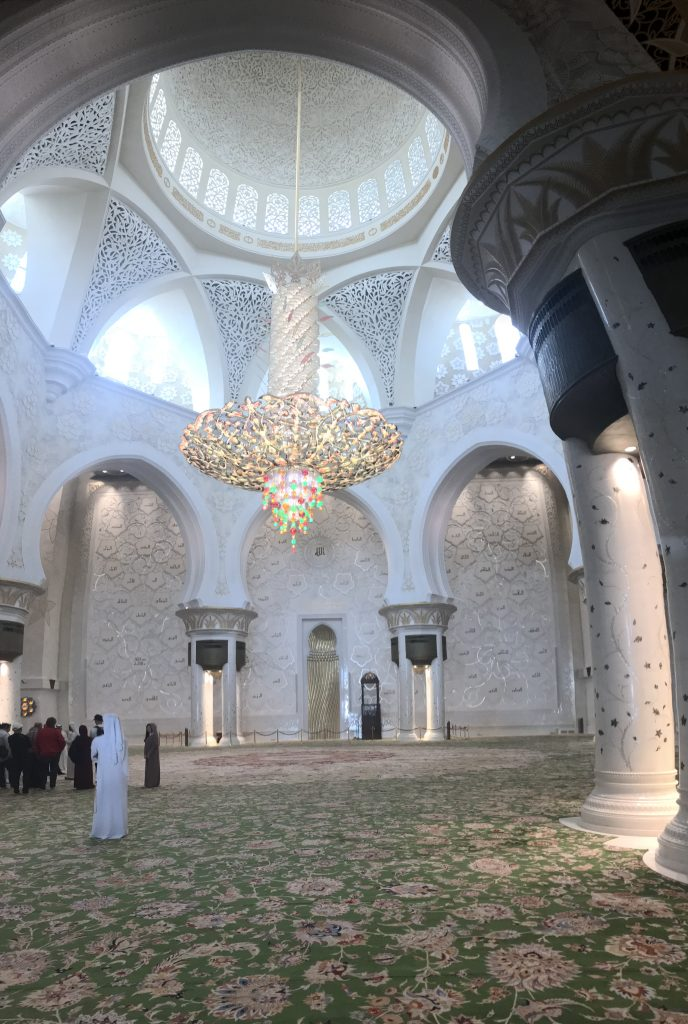 The Largest Chandelier Hanging Over the Largest Carpet - Abu Dhabi