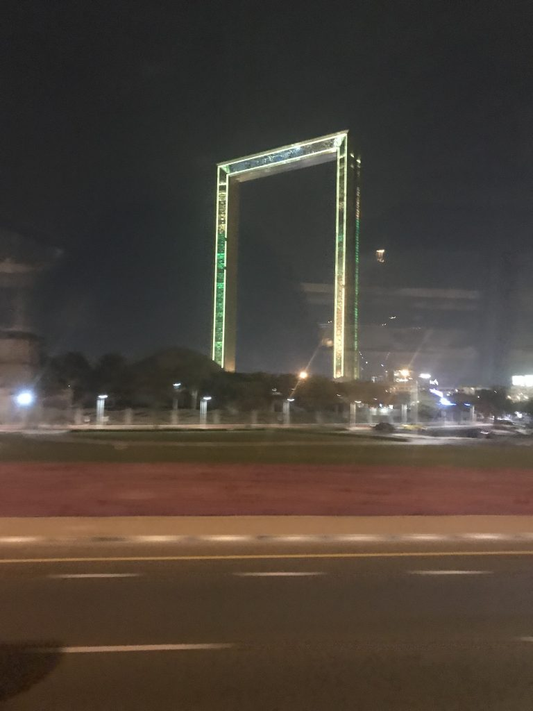 The Dubai Frame from afar