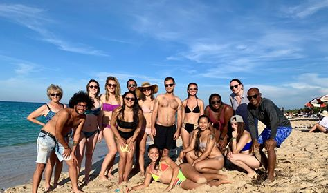 Beach Group Picture in Cuba