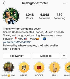 Hijabi Globetrotter Instagram Page - Five on Friday